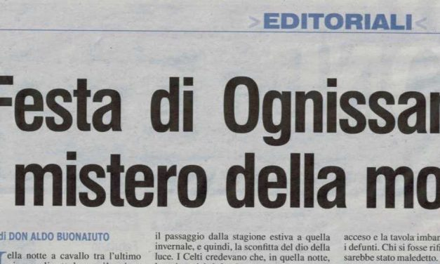 "L'EDITORIALE DI DON ALDO SU ""L'AZIONE"""